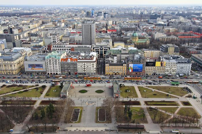 Palace of Culture and Science in Warsaw - view from viewing tarrace