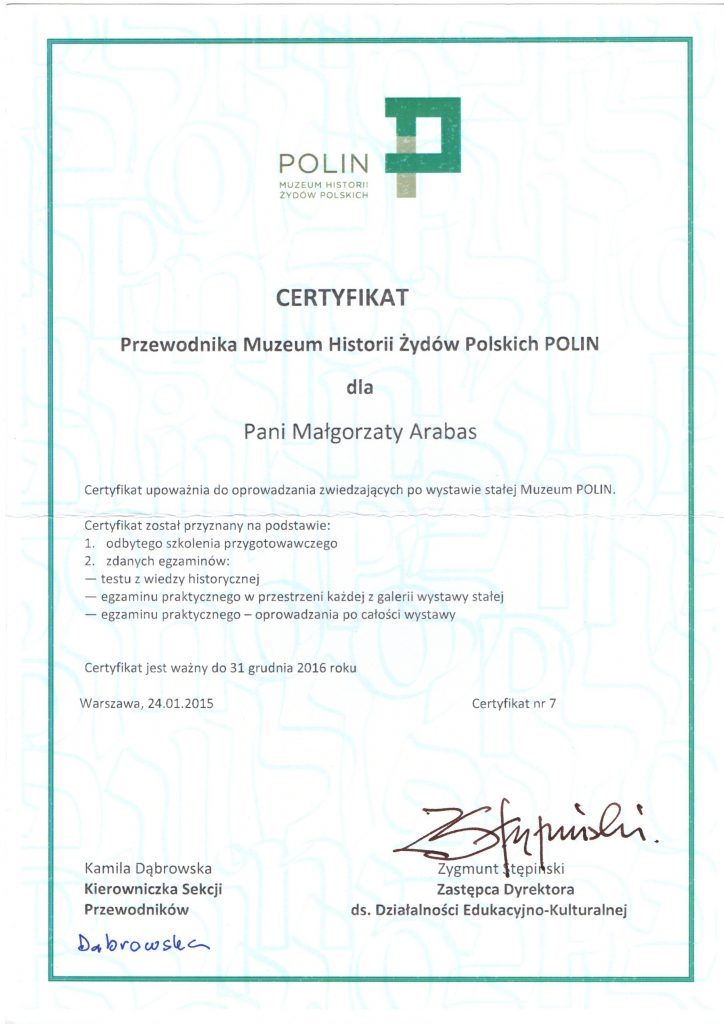 The Museum of the History of Polish Jews - Certificated guide, POLIN guide